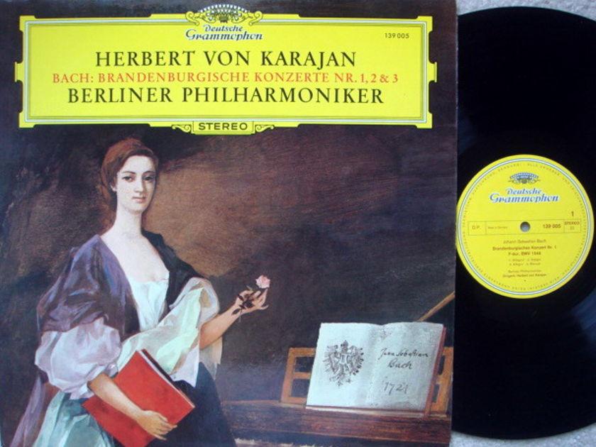 DG / KARAJAN-BPO, - Bach Brandenburg Concertos No.1, 2 & 3, MINT!