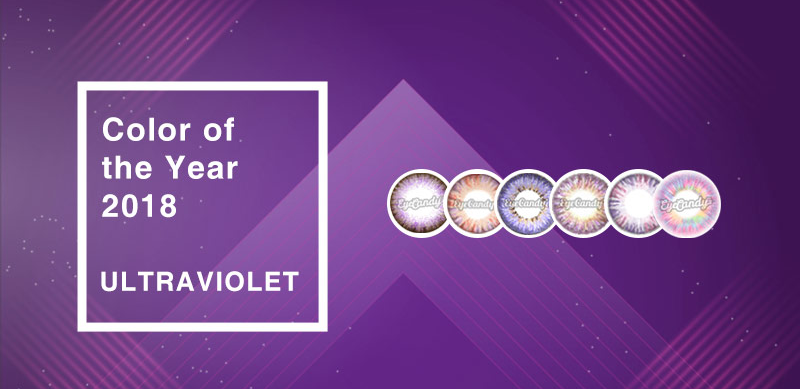 Ultra Violet Purple Contact Lenses - Color of the Year 2018