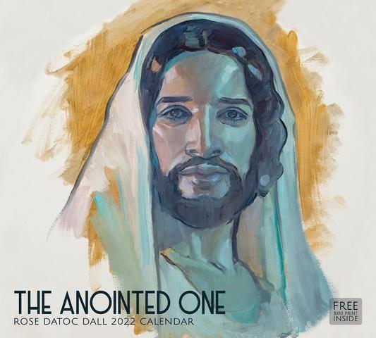 2022 Christian Calendar feautring a painted portrait of Jesus Christ.