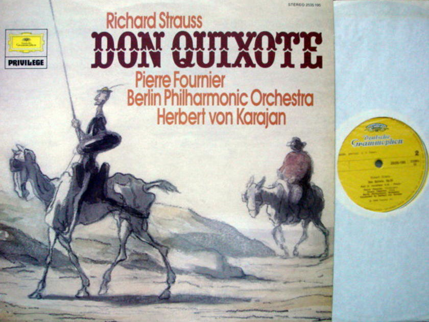 DG / R. Strauss Don Quixote, - FOURNIER/KARAJAN/BPO, MINT, UK Press!