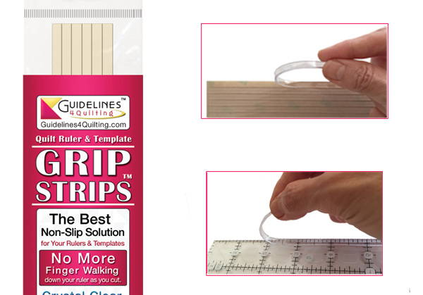 Grip Strips: make your quilt rulers and templates non slip