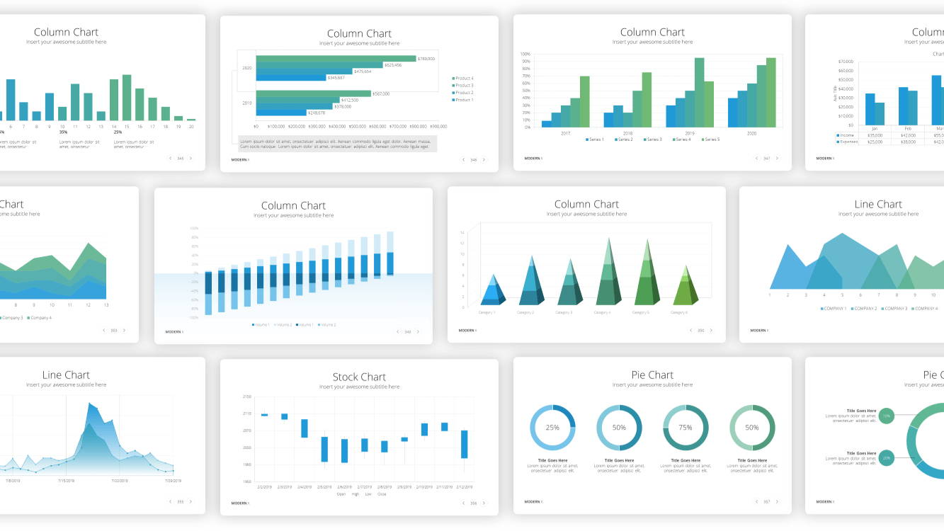 data and charts powerpoint template, infographic powerpoint template, infographic presentation template