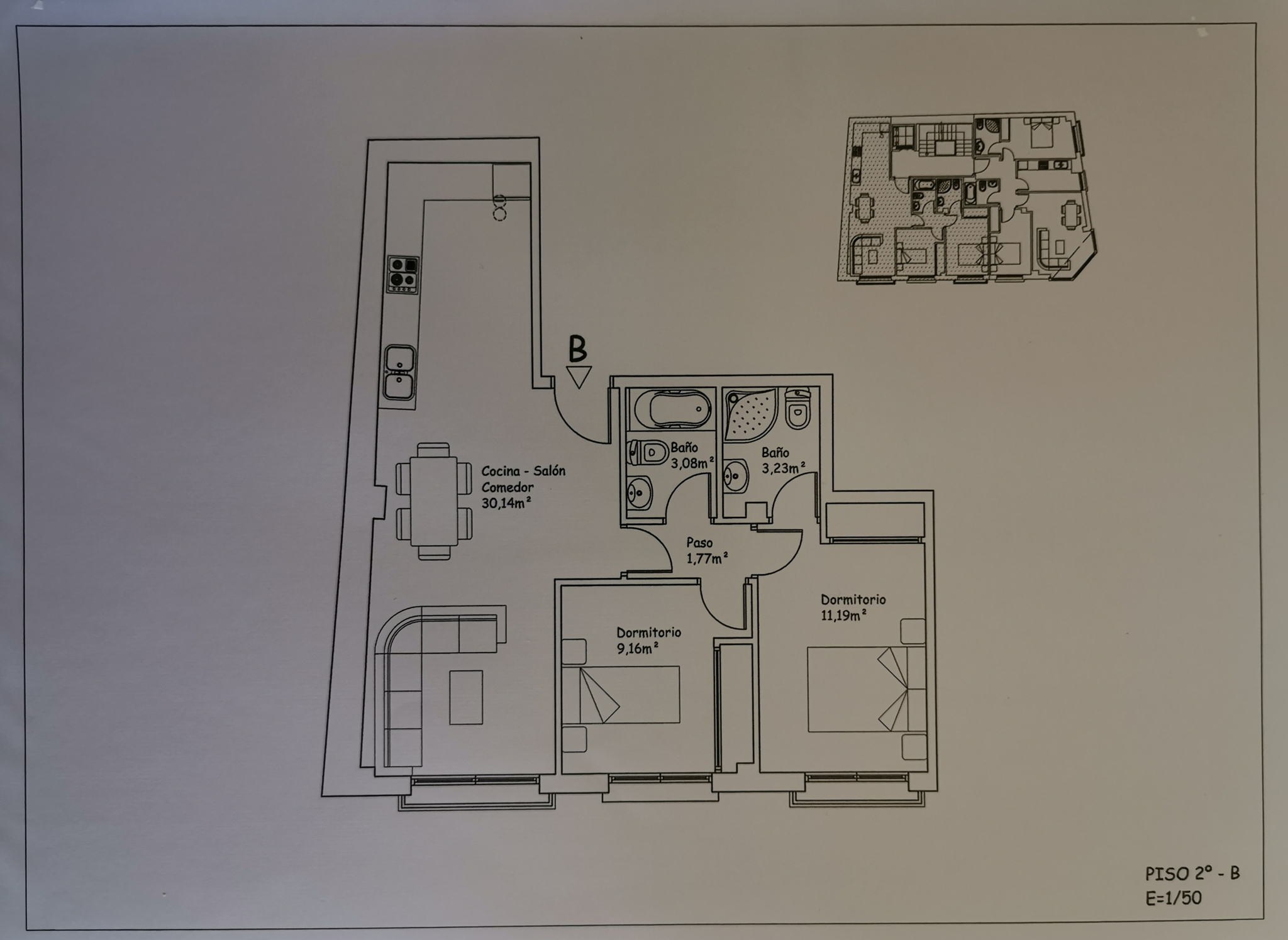 plano piso sanxenxo portonovo 2B