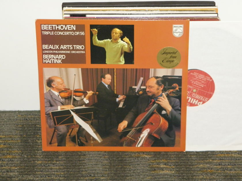 "Beaux Arts Trio/Haitink/London Philharmonic - Beethoven ""Triple Concerto"" Op.56 Philips Import Pressing 9500 302  DELUXE Holland"