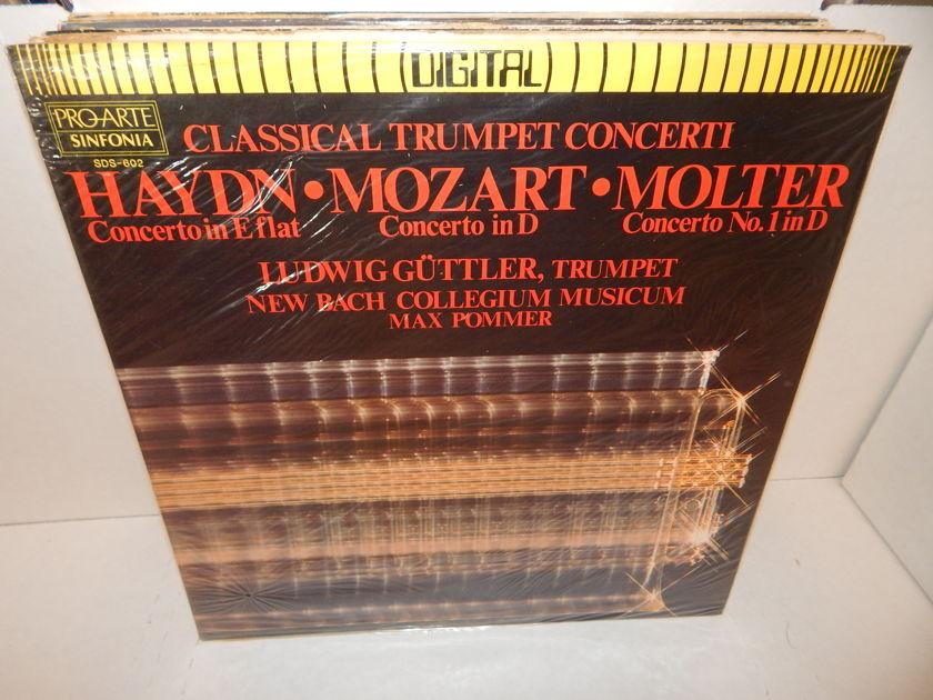 HAYDN MOZART MOLTER - Classical Trumpet Concerti Ludwig Guttler, Trumpet Pro-Arte Digital SEALED LP