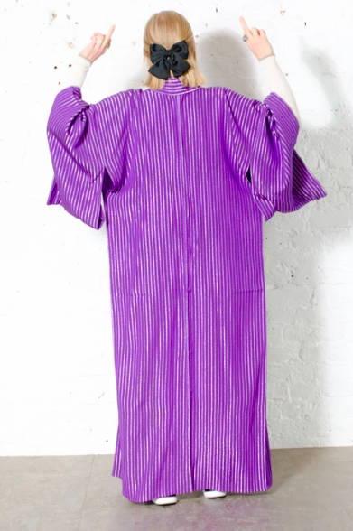 Purple silk vintage kimono