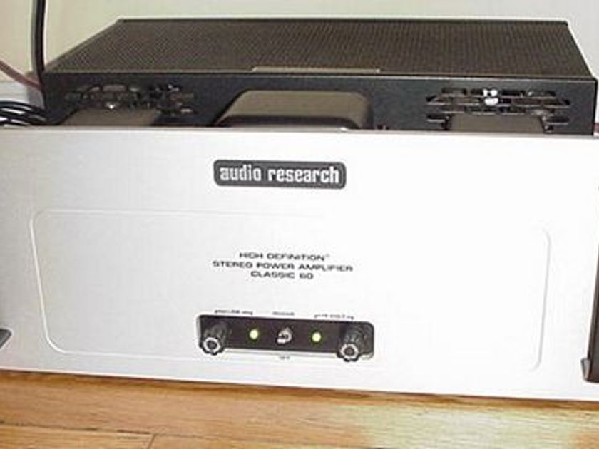 AUDIO RESEARCH CLASSIC 60 HIGH DEFINITION AMPLIFIER
