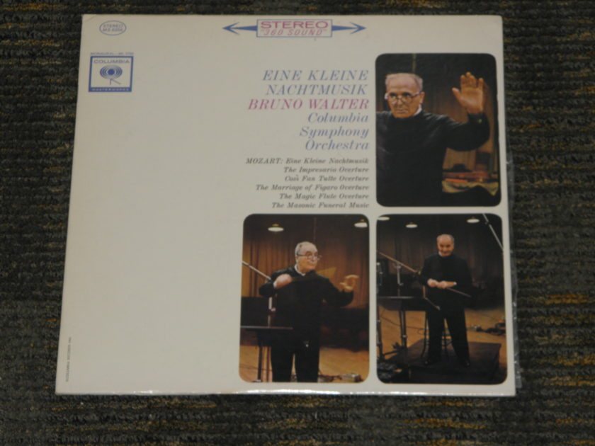 "Bruno Walter/Columbia Symphony Orchestra - Mozart ""Eine Kleine Nachmusik"" Columbia MS 6356 Black print (no arrows) 2 eye pressing"