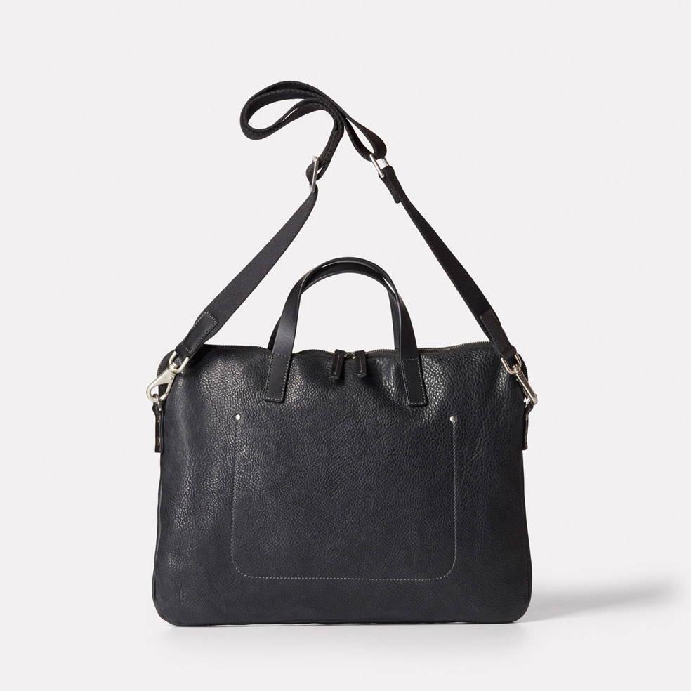 Marcus Calvert Leather Folio Bag in Black