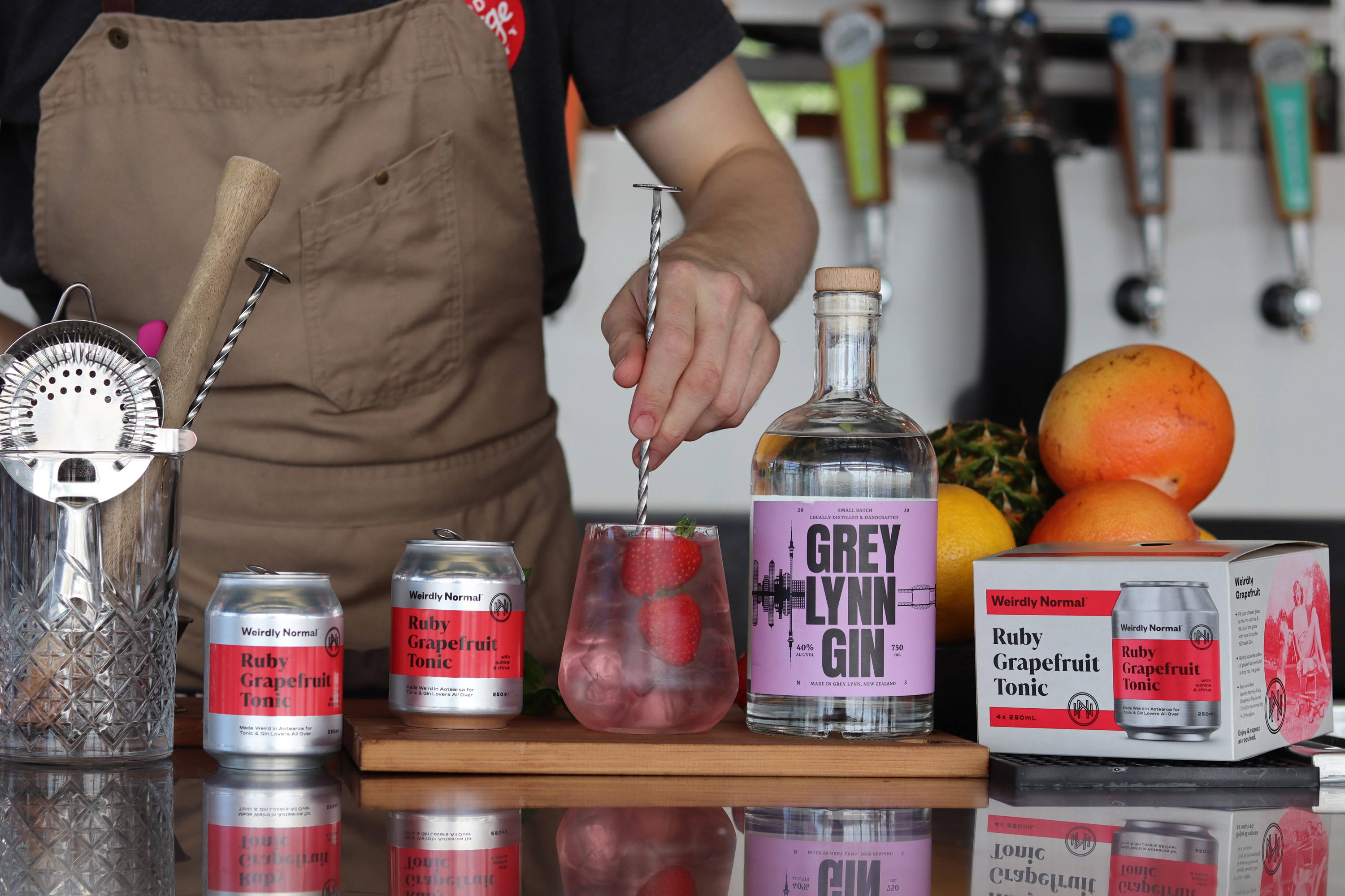 Weirdly Normal Ruby Grapefruit Tonic