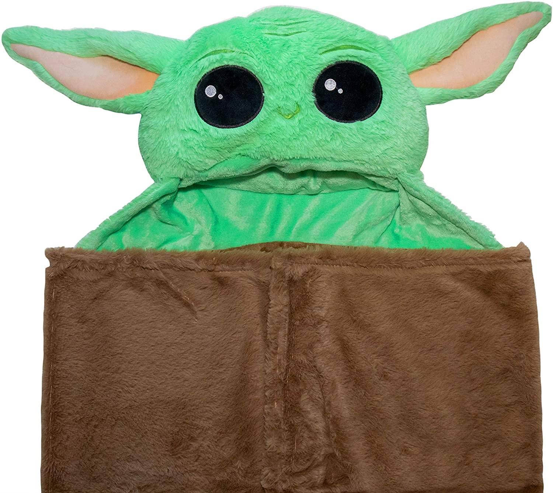 Hooded Baby Yoda Blanket