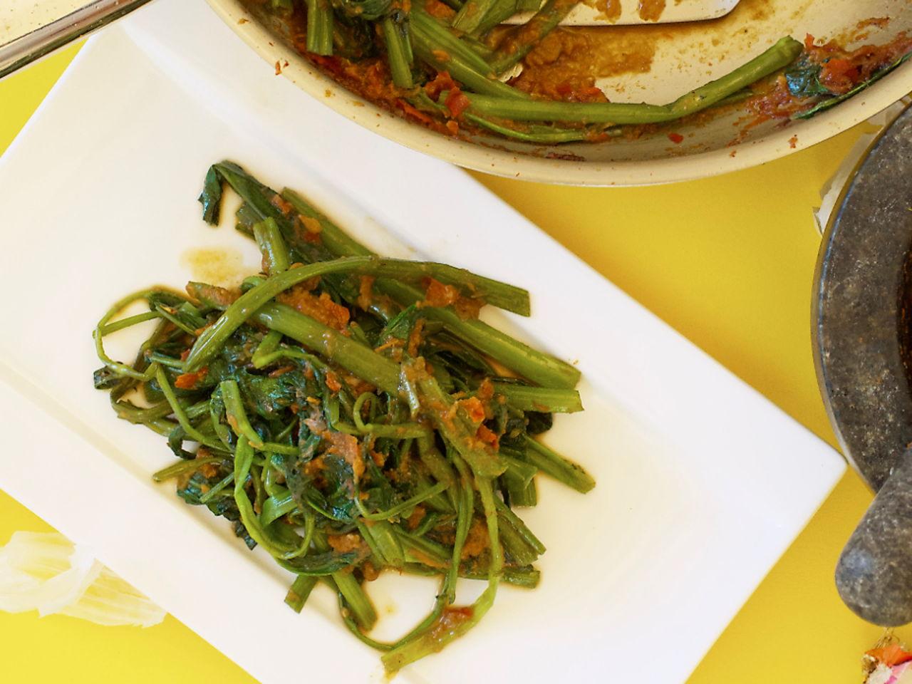 Kangkung Belacan Southeast Asian Recipes Nyonya Cooking