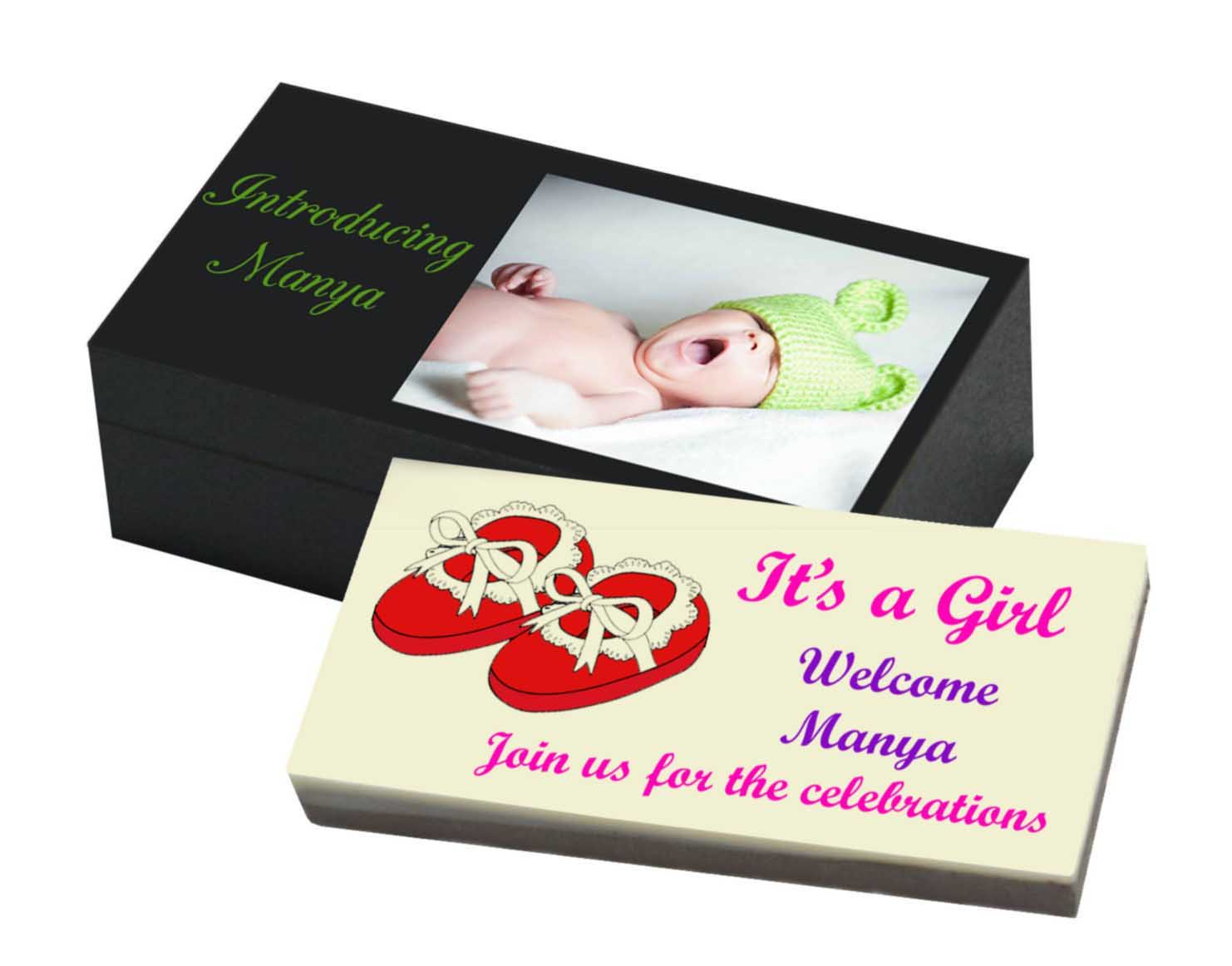 it s a girl announcement chocolate gift box chococraft