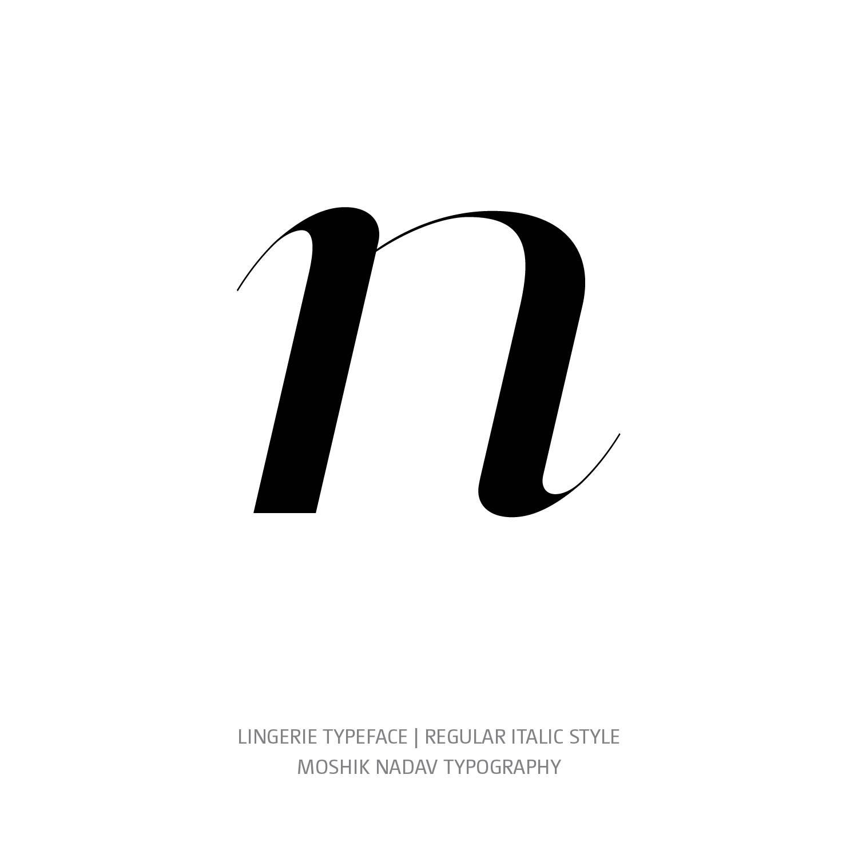 Lingerie Typeface Regular Italic n - Fashion fonts by Moshik Nadav Typography