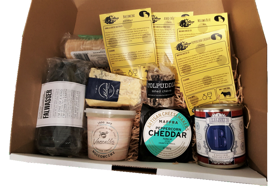 Australian cheese hamper box
