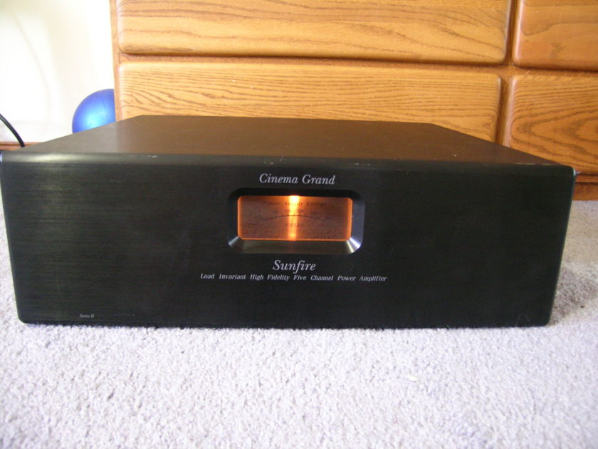 """19"""" Sunfire Cinema Grand Signature Series II 425 x 5 Amplifier Serviced Re-Capped Works Perfect"""
