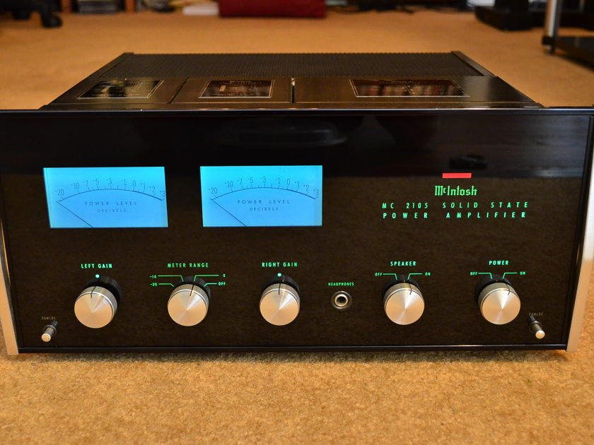 McIntosh  MC 2105 classic solid state stereo power amp w/ extras!