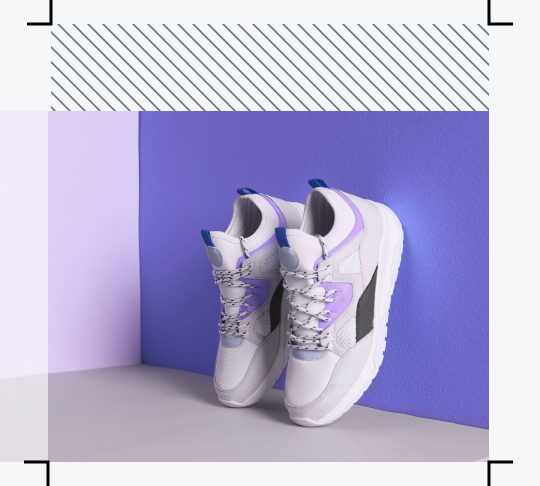 with smart resize feature on the original image of shoes