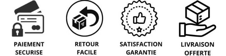 Paiement sécurisé retour facile satisfaction garantie livraison offerte