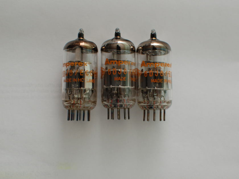 Amperex  6DJ8 ECC88 NOS +  A total of 6 tubes.