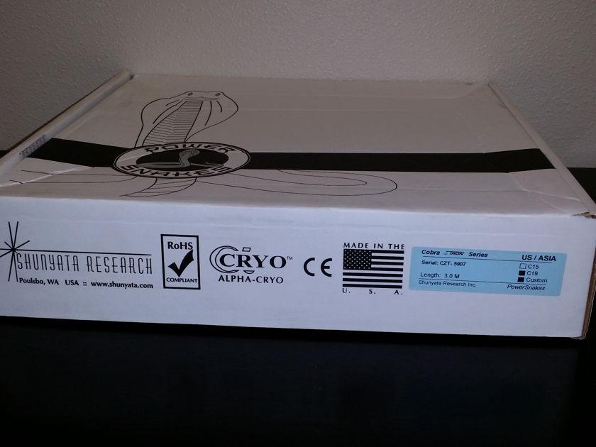 Shunyata Research ZiTron Cobra C19 Power Cable 3.0 Meter Store Demo