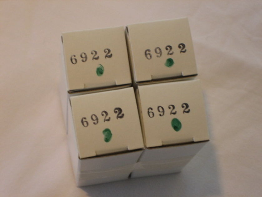 Audio Research  NOS 6922 factory replacement tubes   - Quad (4)