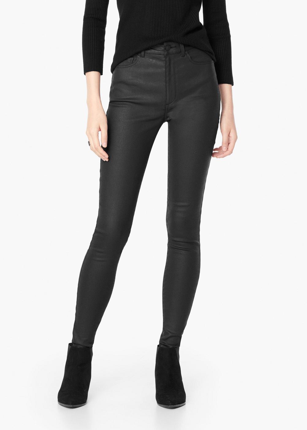 4 Best mid rise black wax coated skinny jeans - Slant