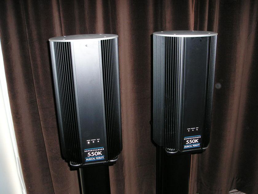 Musical Fidelity  550k Super Chargers Mono Amps A kilowatt of power CHEAP!