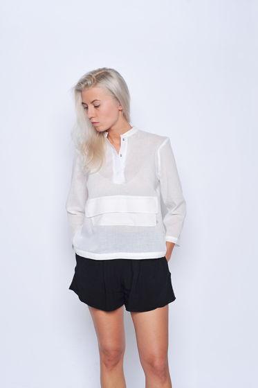 Рубашка с карманом белая