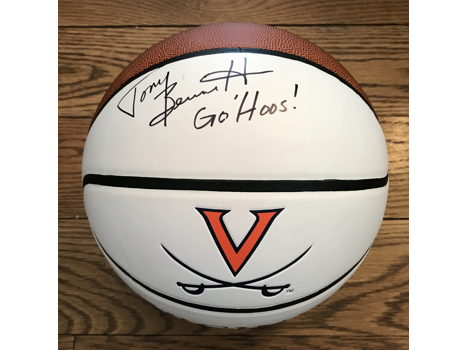 Signed Basketball from UVA Basketball Coach