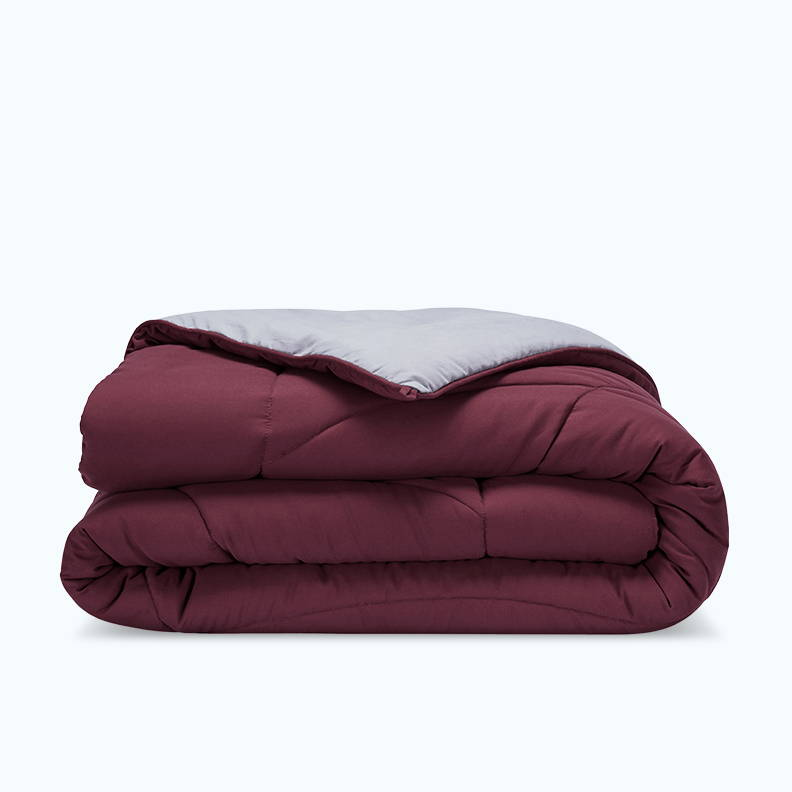 sleep zone bedding website store products collection all season reversible comforter burgundy grey gray