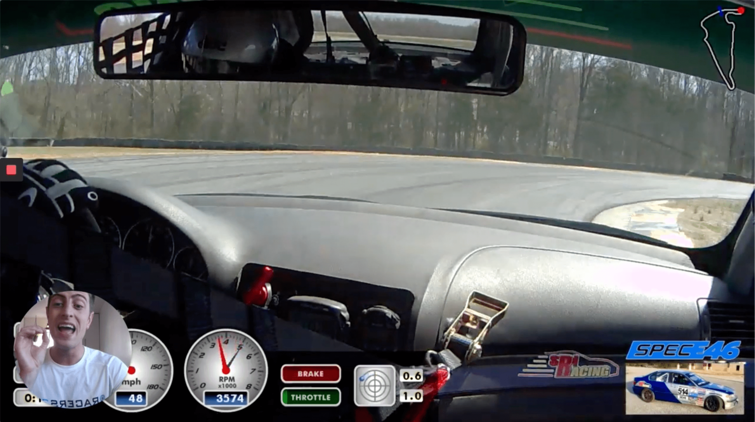 correct initial throttle application spot in turn 1 at Virginia International Raceway