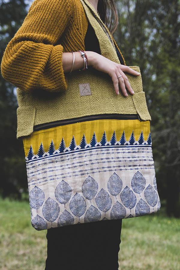 Samanatha Curry sac en bandoulière éthique en chanvre