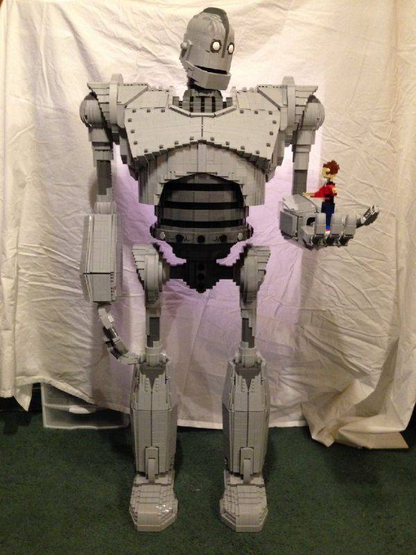 Giant LEGO Robot Sculpture