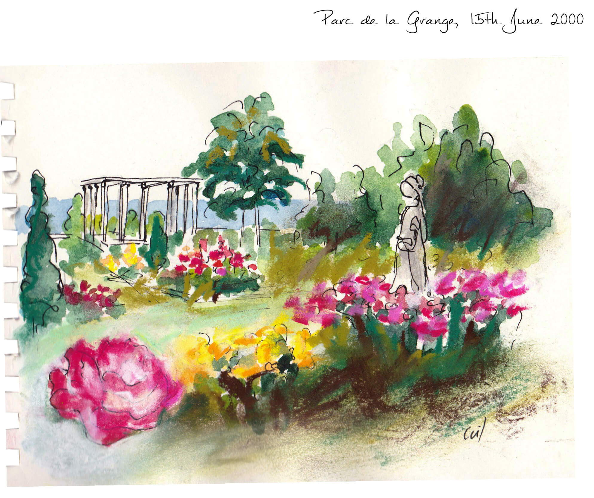 Rose Empire Inspiration behind this floral spicy and woody unisex perfume, Parc de la Grange in Geneva the rose garden