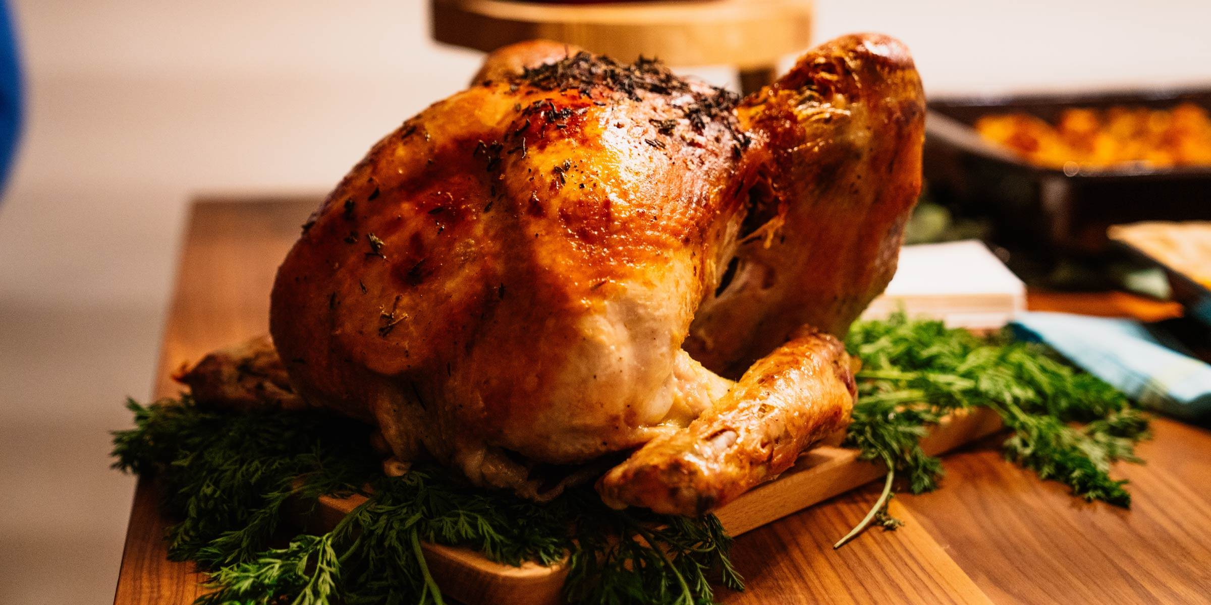 The perfect pairing of roast chicken and Kiss of Wine Crisp Sauvignon Blanc and Smooth Chardonnay.
