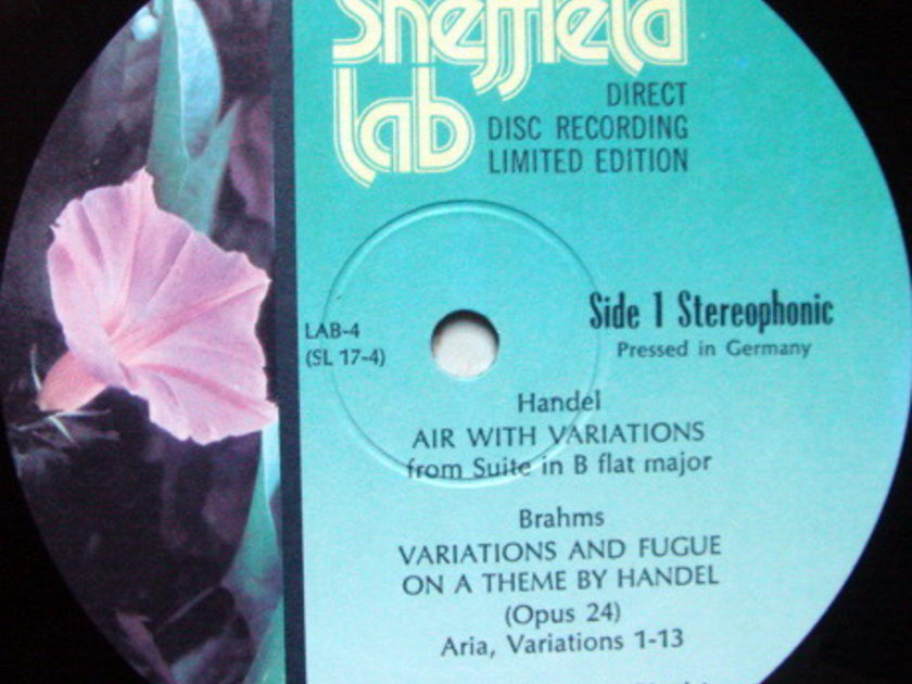 ★Audiophile★ Sheffield Lab / MAYORGA, - Brahms Variations & Fugue on a Theme by Handel, MINT!
