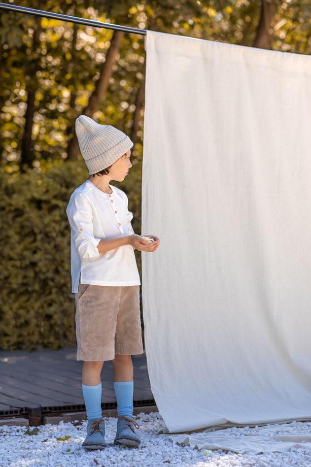 Рубашка для мальчика Илья Муромец (цвет белый)