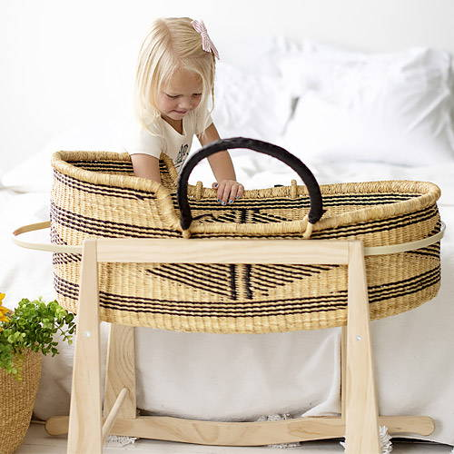 Handmade and woven African Moses Basket