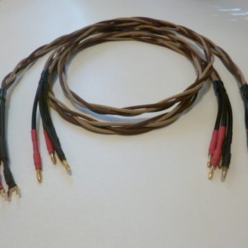 4mm 6N OCC Copper Bi-wire Speaker Cables