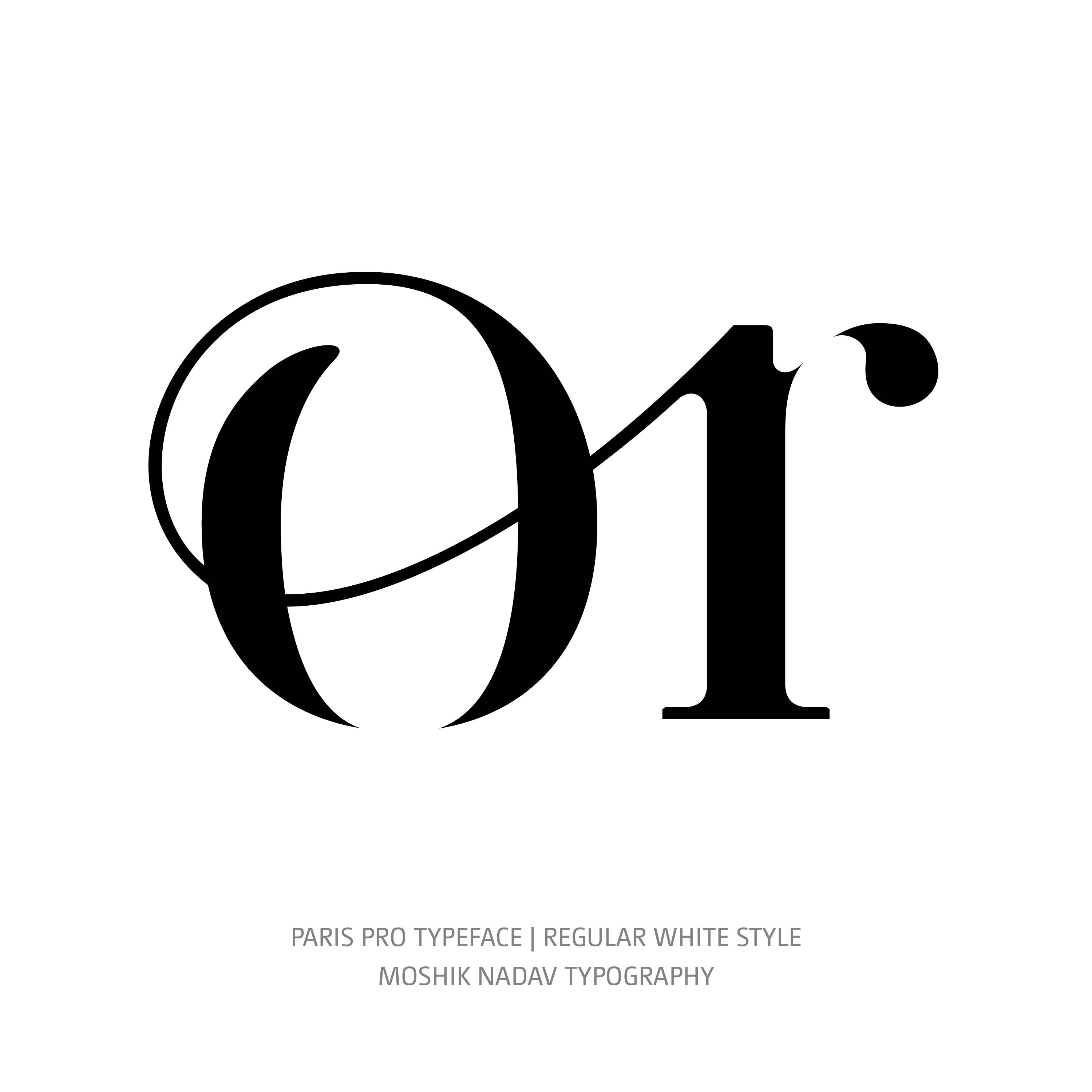 Paris Pro Typeface Regular White or alt ligature