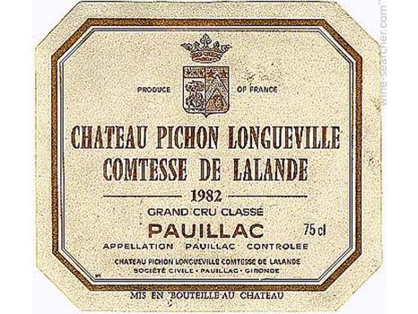 Chateau Pichon-Longueville, Lelande 1982 Magnum - RP 100