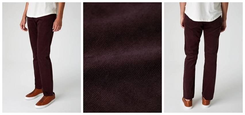 BORDEAUX RED CORDUROY PANTS