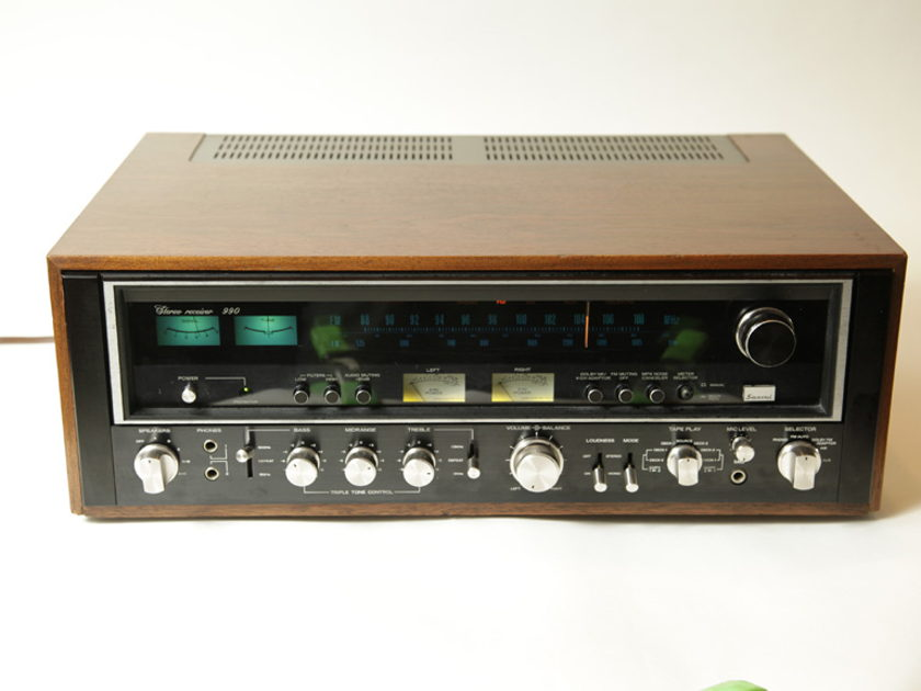 Sansui 990 Vintage Receiver black faced 9090