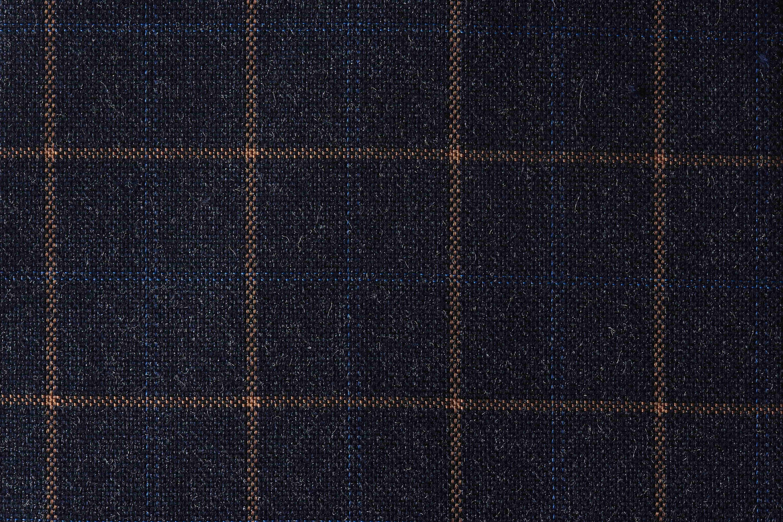 Tailormate | Ternet stof, orange og mørke blå / Navy ternet jakkesæt