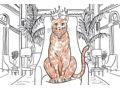 Hamlet the Algonquin Cat Book & Original Illustration Bundle