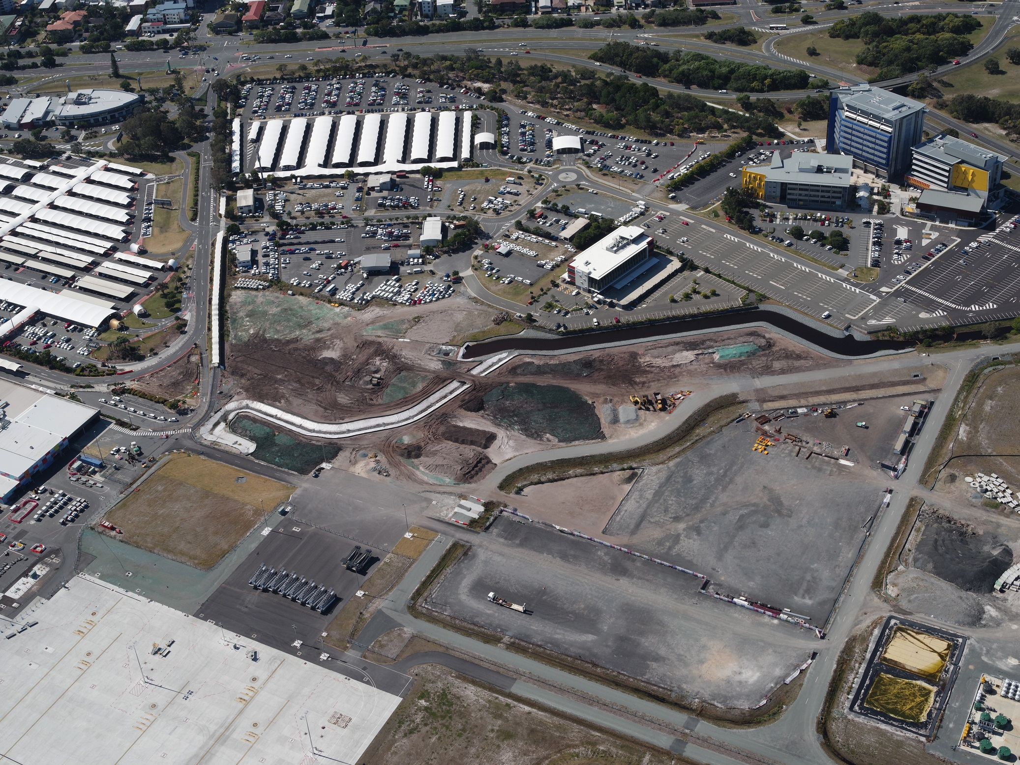 The GTI project was undertaken in close proximity to the secure airside environment at the Gold Coast Airport