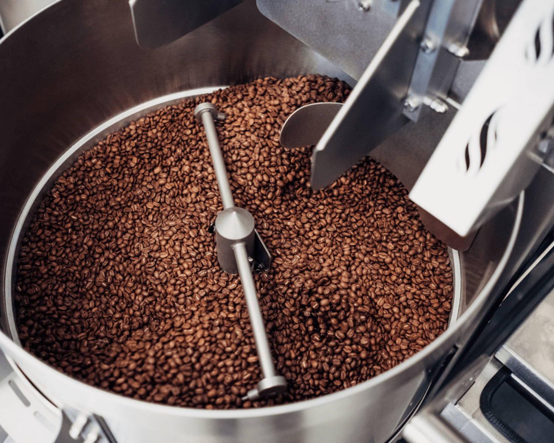 alma coffee wholesale coffee being freshly roasted to order