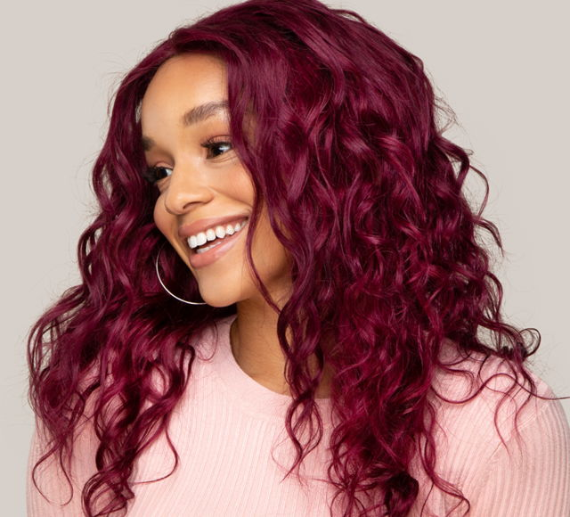 Loose Wave Vibrant Burgundy Closures Mayvenn