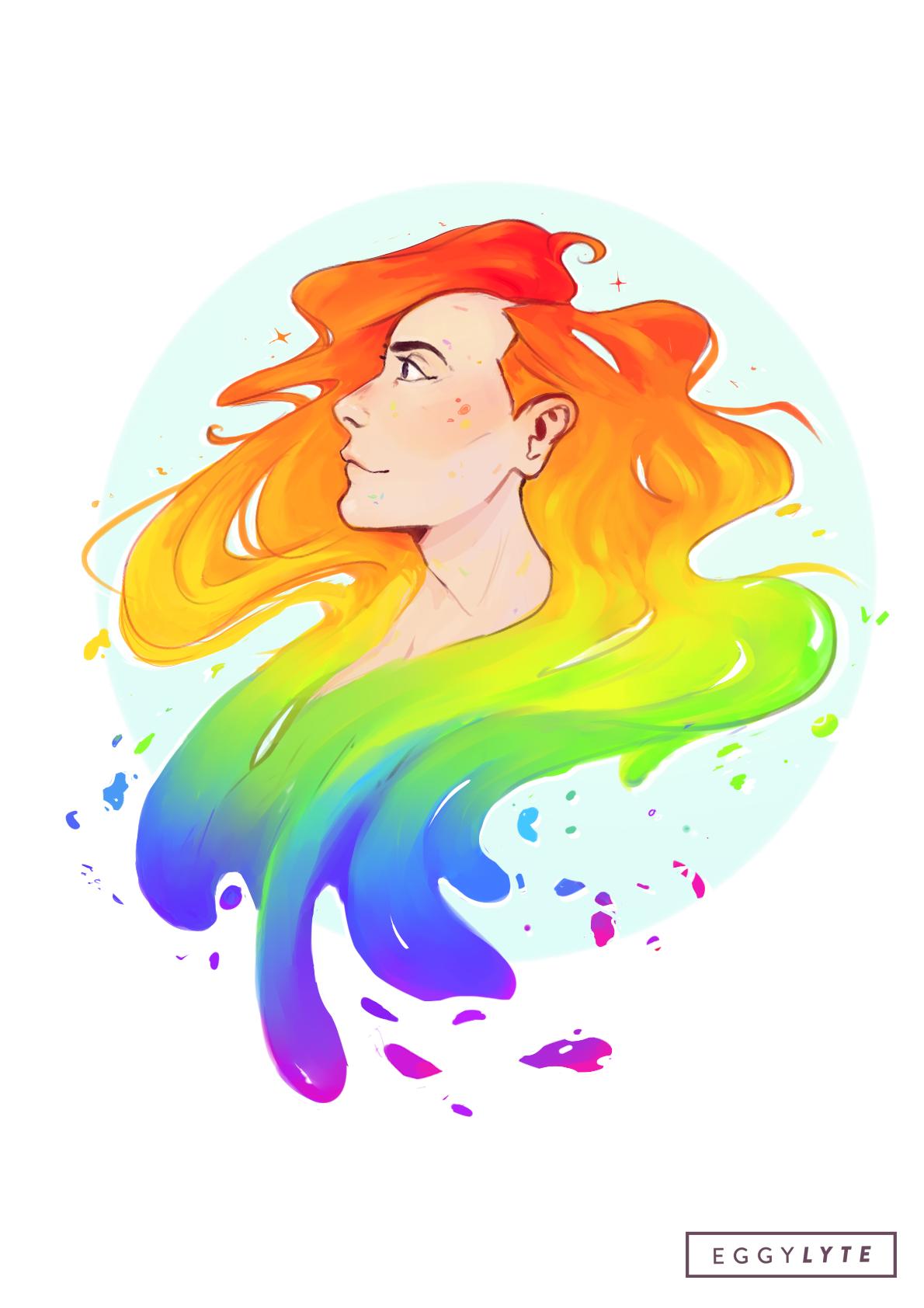 Splash, a drawing by Eggylyte